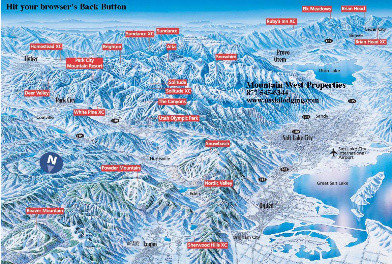 utah ski vacations, utah ski lodging, vacation rentals